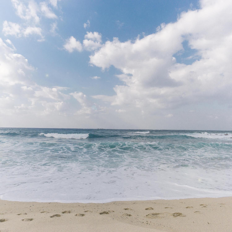 屋久島の海、青空 屋久島海とジュエリー  オーダーメイドマリッジリングのモチーフ