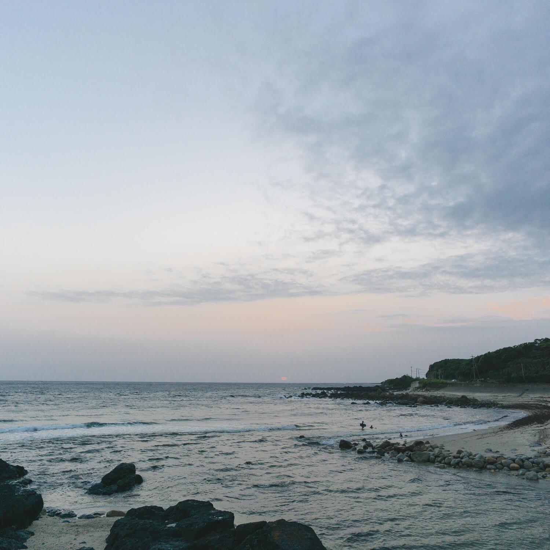 屋久島の海、空、夕暮れ時 屋久島海とジュエリー オーダーメイドマリッジリングの制作