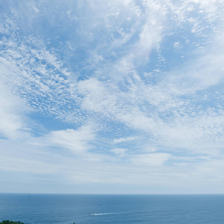 屋久島の空、海 屋久島日々の暮らしとジュエリー オーダーメイドマリッジリングのモチーフ
