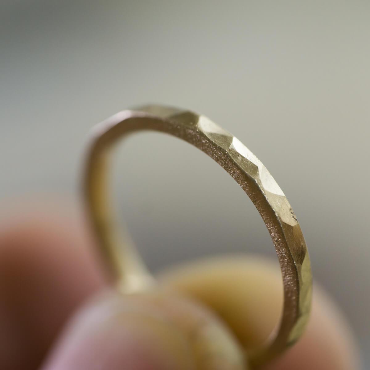 その2 オーダーメイドマリッジリングの制作風景 ジュエリーのアトリエ ゴールドリング 屋久島でつくる結婚指輪