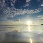 屋久島の海、空 夕暮れ時 屋久島海とジュエリー オーダーメイドマリッジリングのインスピレーション