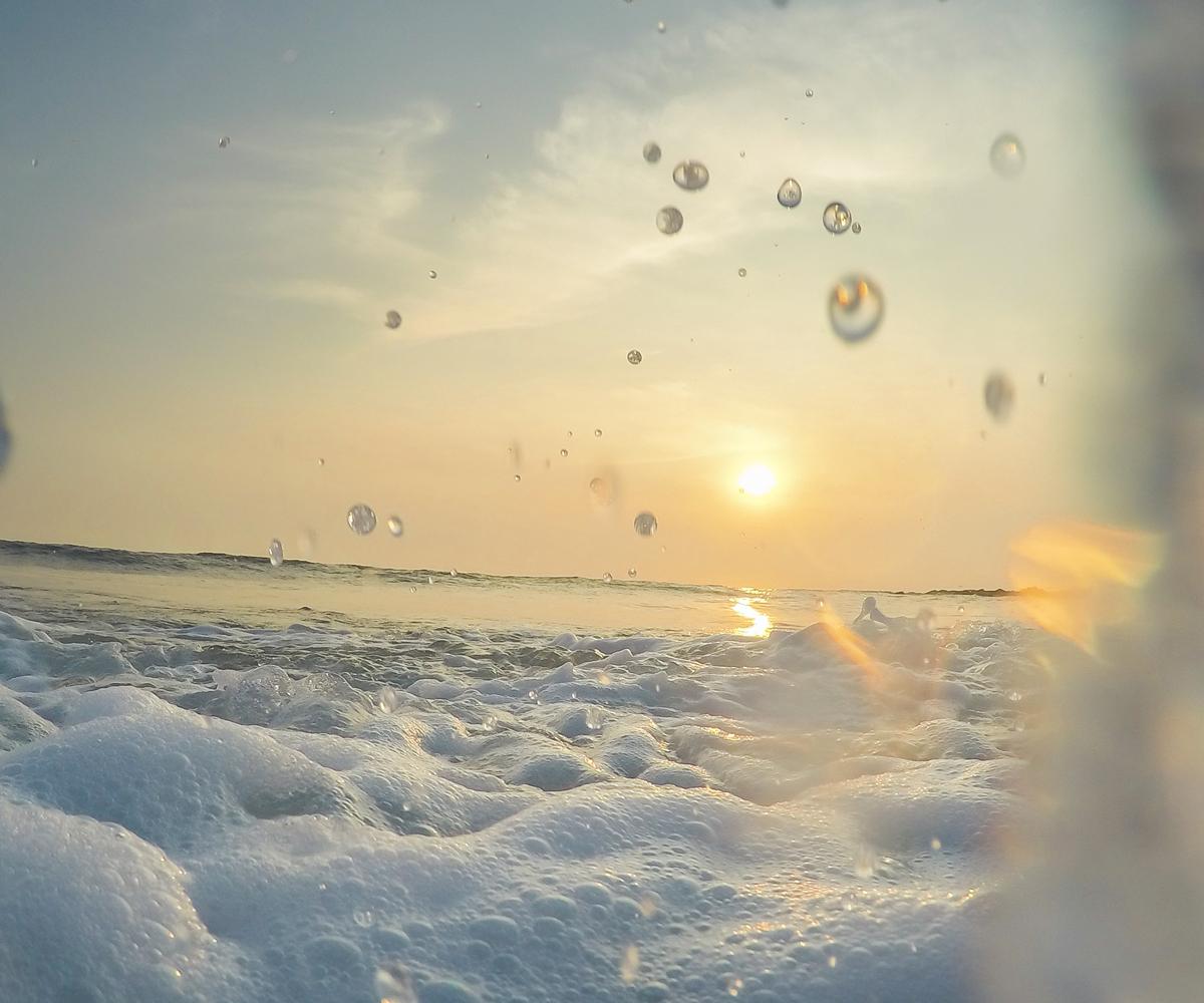 屋久島の海 夕暮れ 屋久島海とジュエリー オーダーメイドマリッジリングのモチーフ 屋久島でつくる結婚指輪