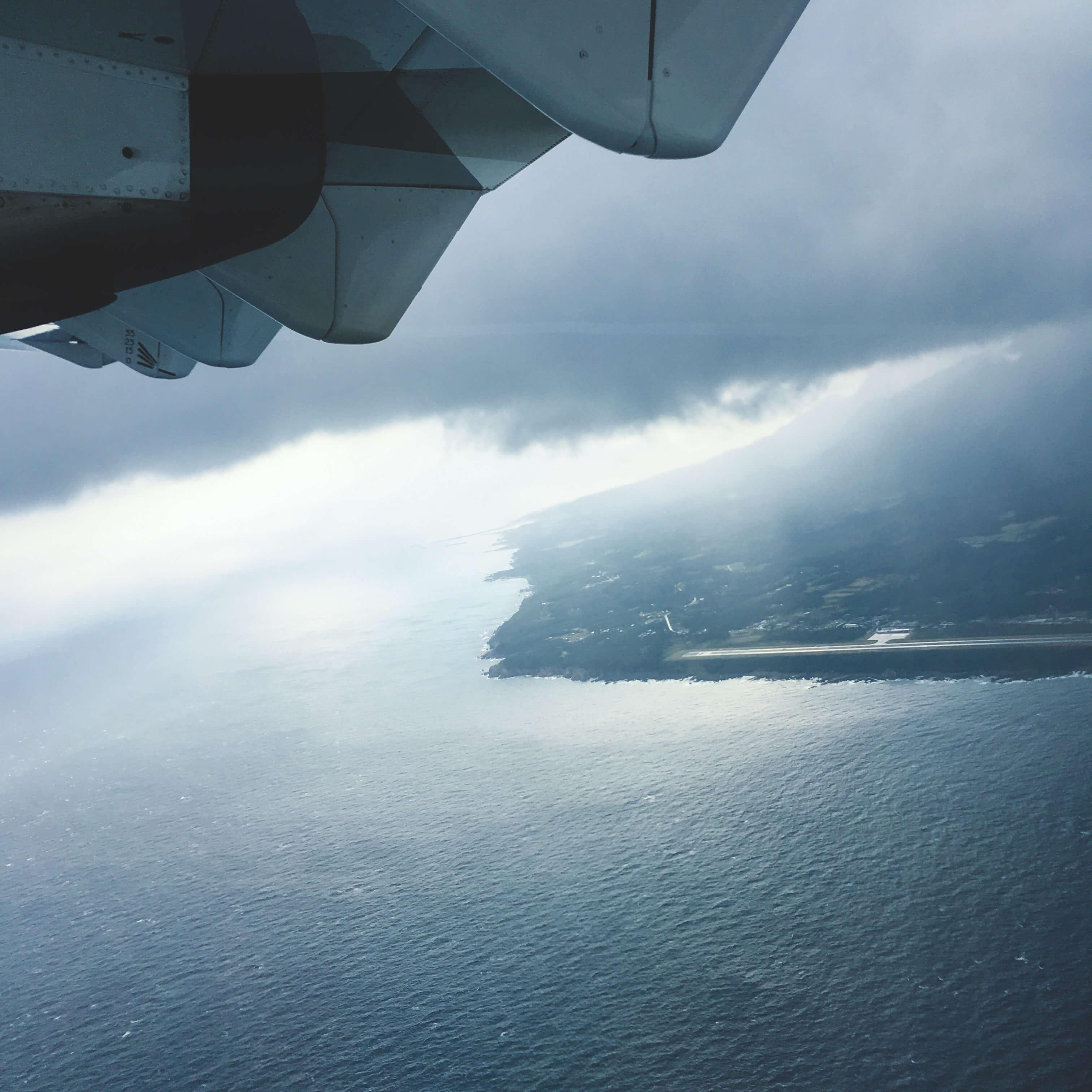 飛行機から見えた屋久島 屋久島日々の暮らしとジュエリー
