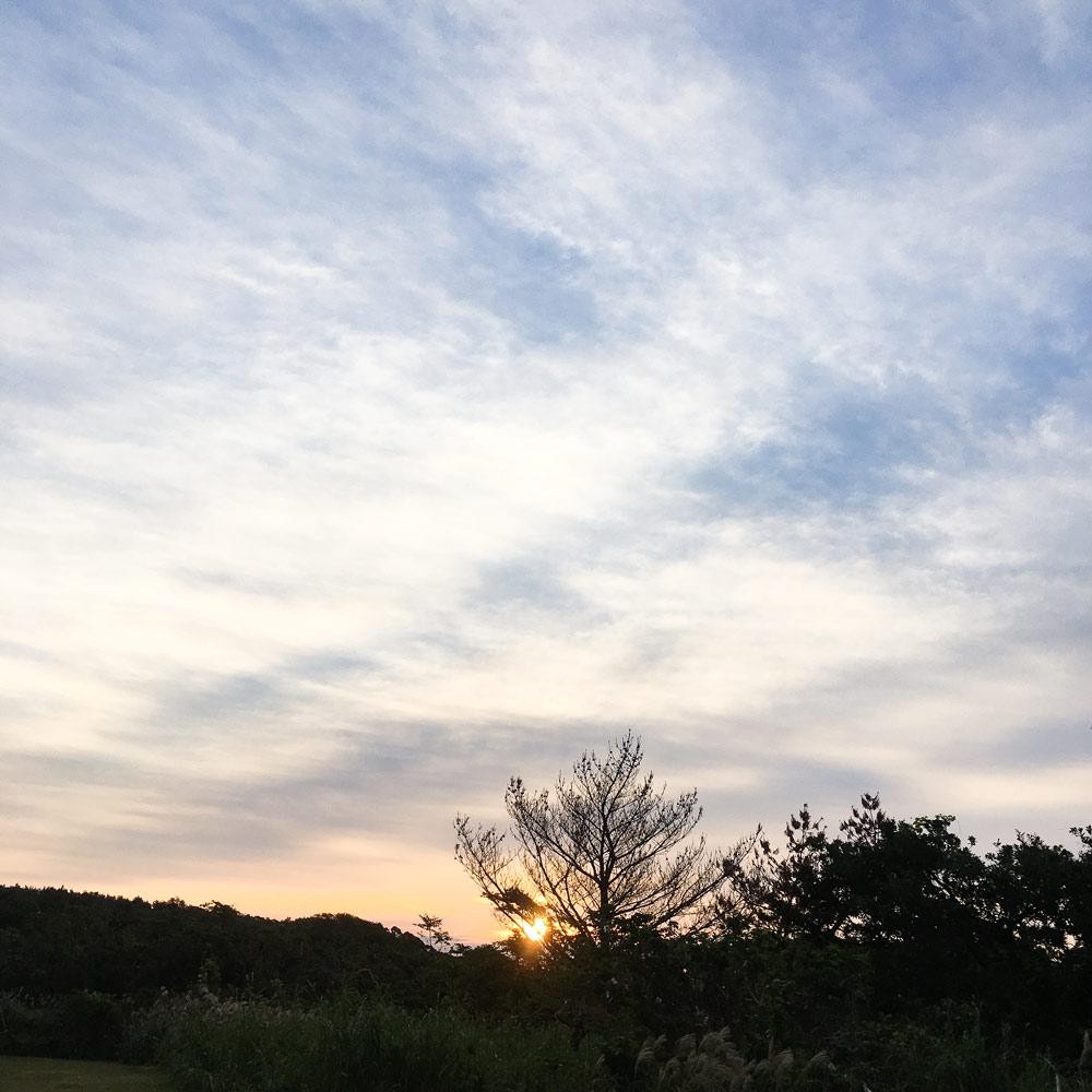 屋久島の朝焼け ジュエリーのアトリエ