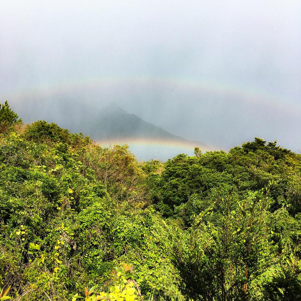 アトリエの絡みた虹 屋久島の山々 ジュエリーと屋久島の暮らし