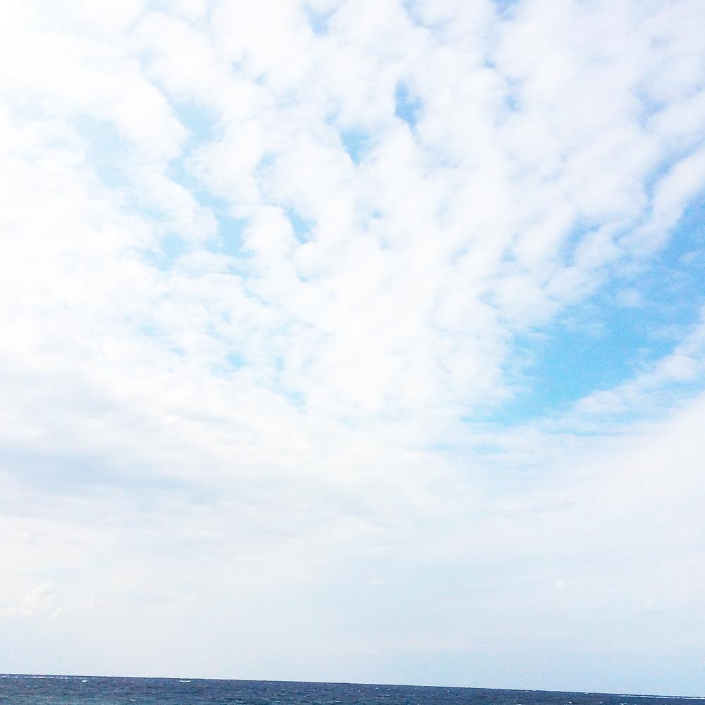 屋久島の海、空