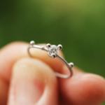 オーダーメイドマリッジリング 屋久島の緑バック プラチナ、ダイヤモンド 屋久島で作る結婚指輪