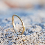 屋久島の砂浜 ゴールドの指輪 オーダーメイドジュエリー