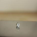 オーダーメイドジュエリーの制作風景 しずく型のネックレス プラチナ、ムーンストーン 屋久島の雨のしずく