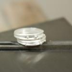 オーダーメイドマリッジリングの制作風景 シルバー サンプルr 屋久島で作る結婚指輪