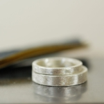 制作風景 屋久島でつくる結婚指輪 シルバー サンプル