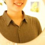 鏡越し オーダーメイドのネックレス プラチナ