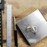 制作風景 リング3本 屋久島で作る結婚指輪