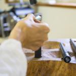 kei nakamura jewellery アトリエ、結婚指輪形成中