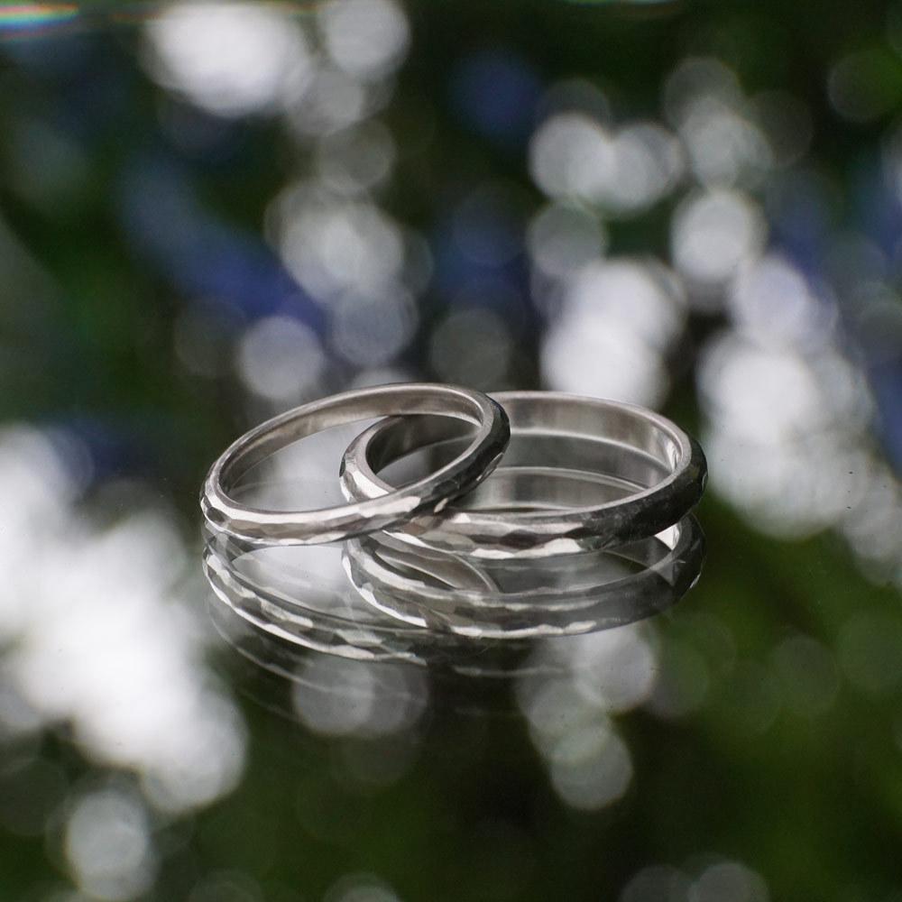 プラチナの結婚指輪 屋久島の緑に包まれて
