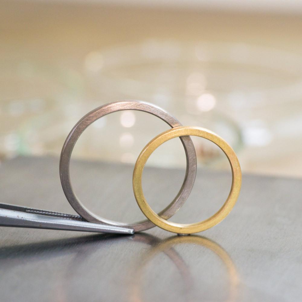 結婚指輪の制作風景
