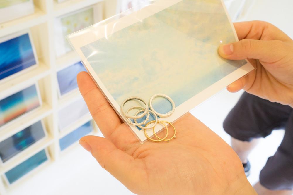 ポストカードと指輪