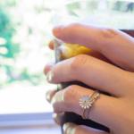 コーヒーと指輪 ゴールド、シルバー、プラチナ、ダイヤモンド 屋久島日々の暮らしとジュエリー