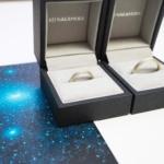 オーダーメイドマリッジリング ケースに入れて プラチナ、ゴールド 屋久島で作る結婚指輪