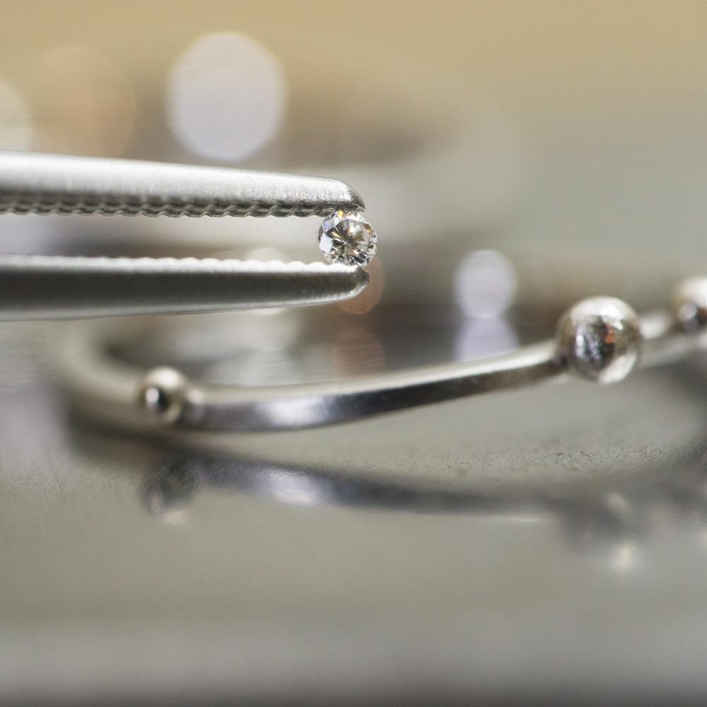 オーダーメイド結婚指輪の制作風景 プラチナ、ダイヤモンド 屋久島で作る結婚指輪