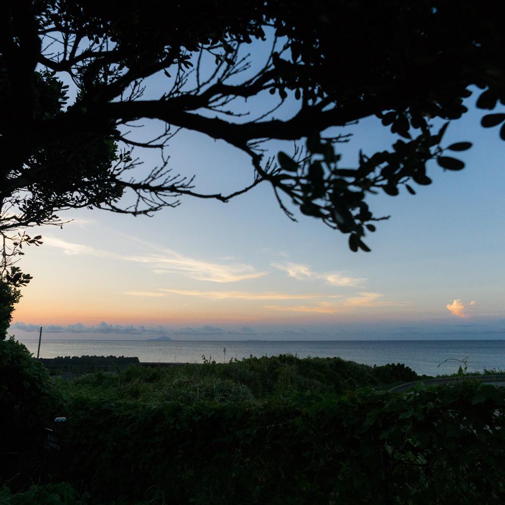 屋久島の海、夕焼け