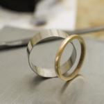 オーダーメイド結婚指輪の制作風景 プラチナ、ゴールド 屋久島で作る結婚指輪