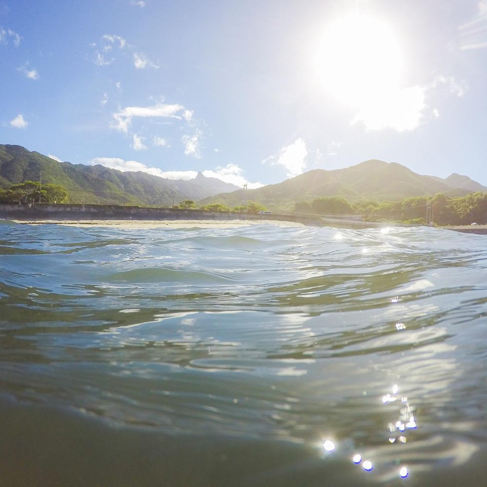 屋久島の海、山々