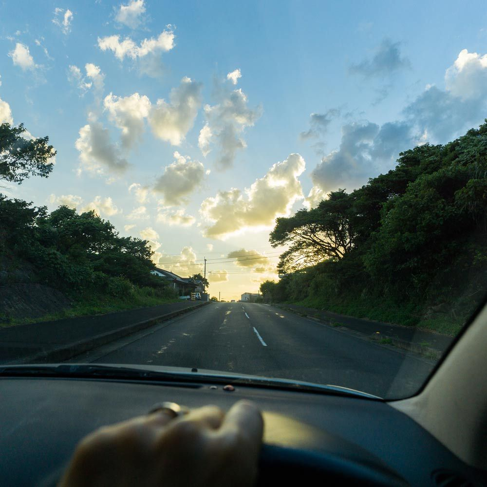 車窓から 屋久島の空
