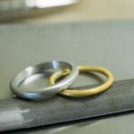 オーダーメイドマリッジリングの制作風景 ゴールド、プラチナ 屋久島でつくる結婚指輪