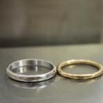 ハンドメイドのマリッジリング プラチナ、ゴールド 屋久島で作る結婚指輪