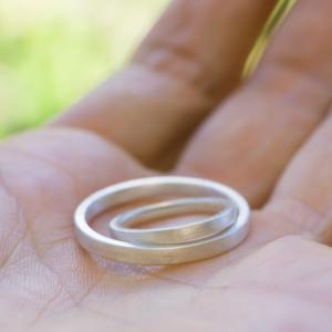 オーダーメイドマリッジリング サンプル シルバー 屋久島で作る結婚指輪