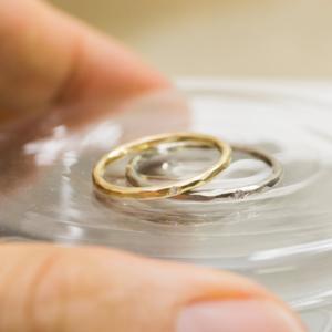 オーダーメイドのマリッジリング ゴールド、プラチナ、ダイヤモンド 屋久島で作る結婚指輪