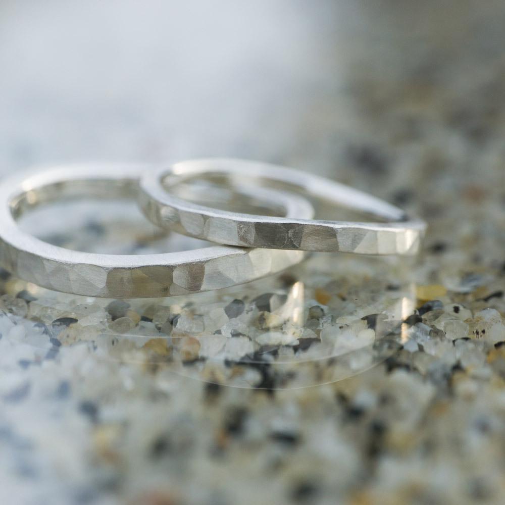 オーダーメイドのマリッジリング シルバー 屋久島のビーチ 屋久島で作る結婚指輪