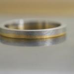 ゴールドとプラチナのコンビリング オーダーメイドジュエリーの制作過程 屋久島で作る結婚指輪