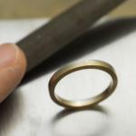 ジュエリーの制作風景 屋久島で作る結婚指輪 プラチナ、ゴールド