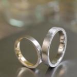 オーダーメイドのマリッジリンング プラチナ、ゴールド、ダイヤモンド 屋久島でつくる結婚指輪