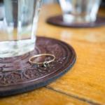 ゴールドのリング アクアマリン 屋久島のカフェ