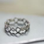 ジュエリーの制作過程 プラチナのリング 屋久島でつくる婚約指輪