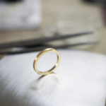 iマリッジリングの制作過程 屋久島の月モチーフ ゴールドリング 屋久島でつくる結婚指輪