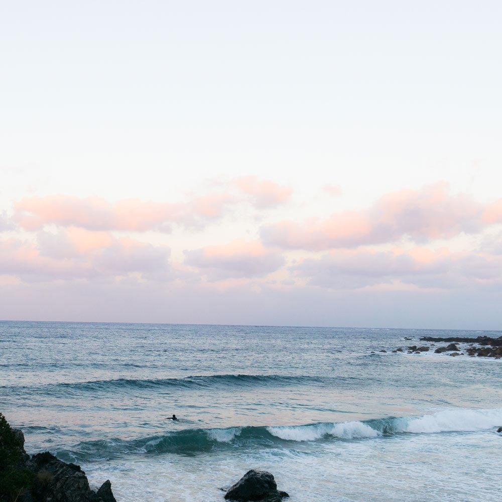 屋久島の海 朝焼け