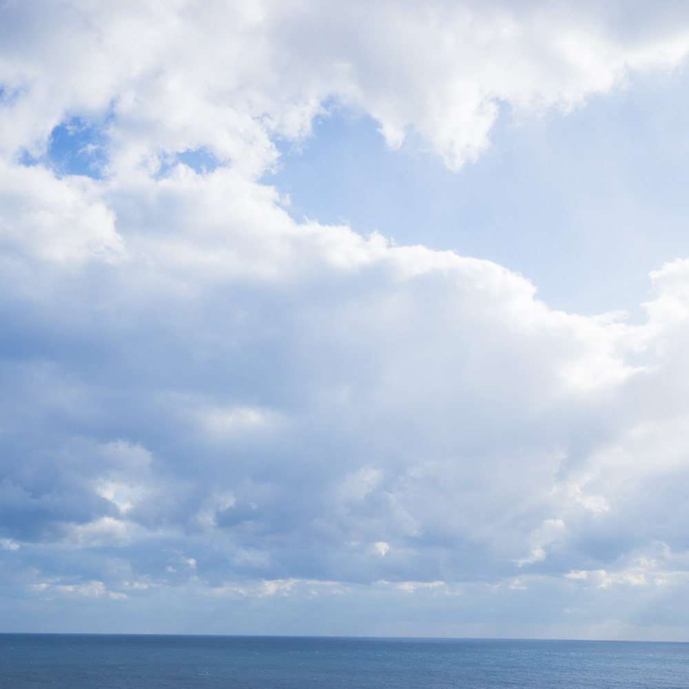 屋久島の海 空