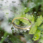 シダの指輪と屋久島の緑、雨 ゴールド、プラチナ 屋久島でつくる結婚指輪