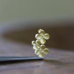 ジュエリーの制作風景 お花のネックレス ゴールド 屋久島の菜の花モチーフ