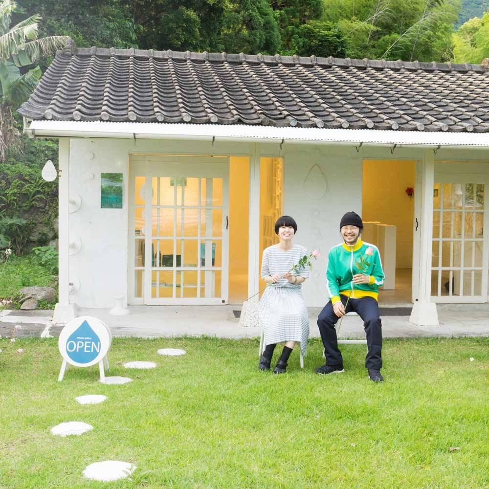 しずくギャラリーとお二人 花 屋久島でつくる結婚指輪
