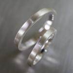 シルバーのリング オーダーメイド結婚指輪のサンプル