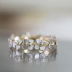 お花のエタニティーリング ゴールド、シルバー、ダイヤモンド オーダーメイドの婚約指輪