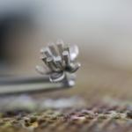 ジュエリーの制作風景 お花のエンゲージリング プラチナ 屋久島でつくる婚約指輪