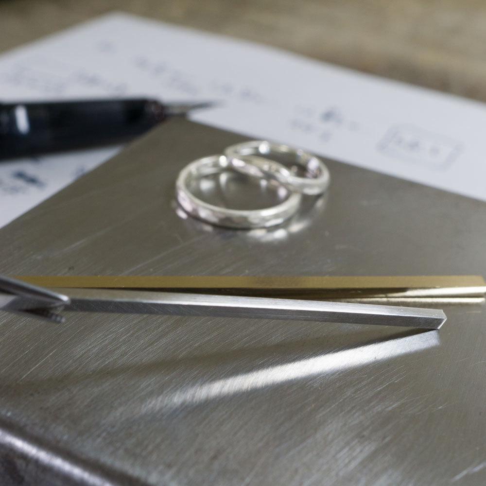 オーダーメイドジュエリーの素材 ゴールド、プラチナ 屋久島でつくる結婚指輪