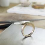 ジュアリーの制作風景 ゴールドの指輪 屋久島でつくる結婚指輪