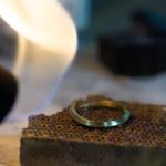結婚指輪の制作風景 ゴールドリング